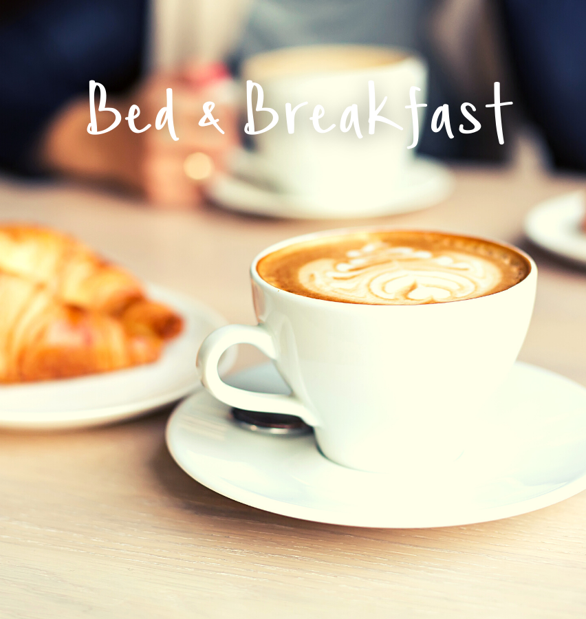 Showcase Coffee and pastry option for a bed and breakfast hotel package